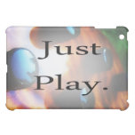 Just Play music design with tiger bass background Cover For The iPad Mini