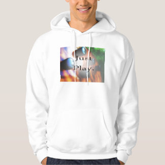 Just Play music design with tiger bass background Sweatshirt