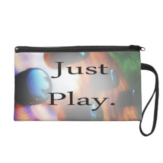 Just Play music design with tiger bass background Wristlet