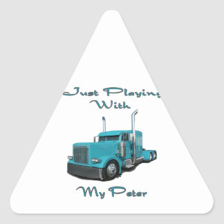 Just Playing With My Peter Triangle Sticker