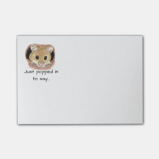 """""""Just Popped in to say"""" Quote Fun Mouse Animal Post-it Notes"""