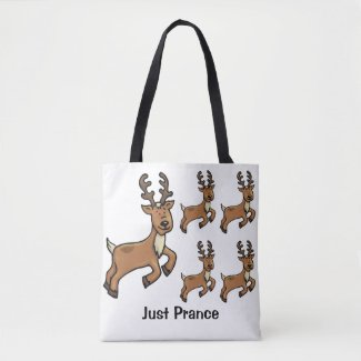 Just Prance - Christmas Reindeer Tote Bag