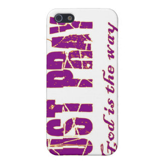JUST PRAY God is the way Christian saying iPhone 5 Covers