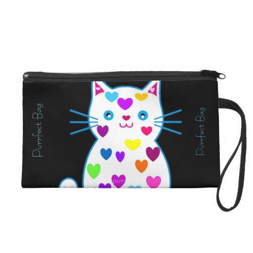 Just purrfect kitty hearts cosmetic bag