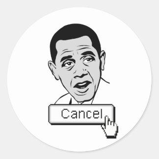 "Just push ""cancel"" button round stickers"