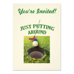 Just Putting Around Golf 5x7 Paper Invitation Card