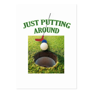Just Putting Around Golf Large Business Cards (Pack Of 100)