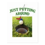 Just Putting Around Golf Postcard