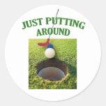 Just Putting Around Golf Sticker