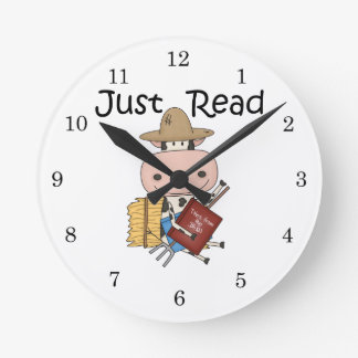 Just Read Round Wall Clock