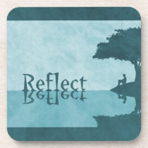 Just Reflect Cork Coaster