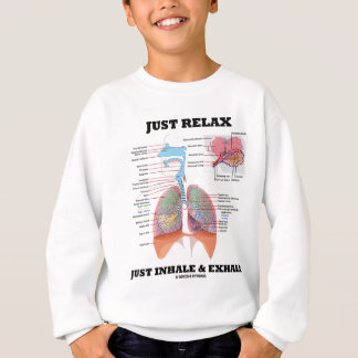 Just Relax Just Inhale and Exhale (Respiratory) Sweatshirt