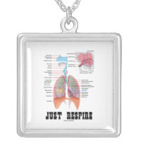 Just Respire (Respiratory System) Square Pendant Necklace