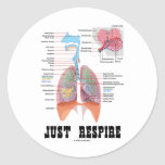 Just Respire Round Stickers
