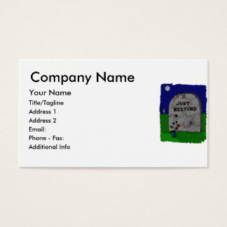 Just Resting Headstone Business Card