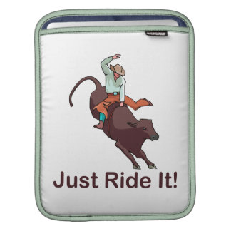 Just Ride It Cowboy and Bull Sleeve For iPads