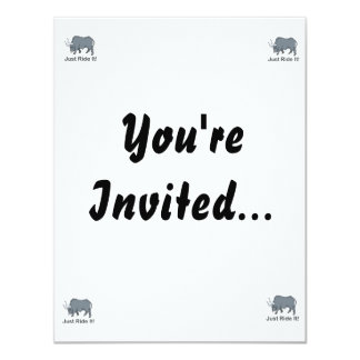 Just Ride it Grey Bull 4.25x5.5 Paper Invitation Card