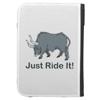 Just Ride it Grey Bull Kindle Folio Cases