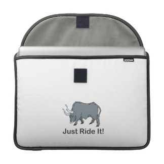 Just Ride it Grey Bull Sleeve For MacBooks