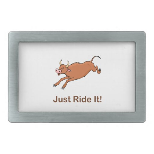 Just Ride It With Brown Bucking Bull Belt Buckles
