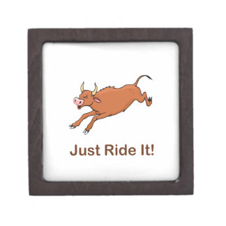 Just Ride It With Brown Bucking Bull Gift Box