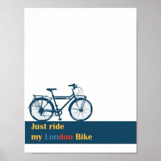 just ride london bike wall decor poster 11 x 8.5