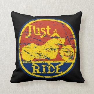 Just Ride Motorcycle Decorative Pillow Throw Pillow