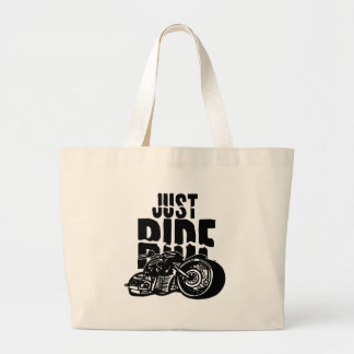 Just Ride Motorcycle Design Canvas Bags