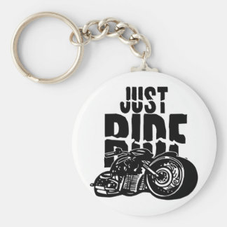Just Ride Motorcycle Design Key Chains