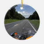Just Ride Double-Sided Ceramic Round Christmas Ornament