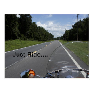 Just Ride Postcard