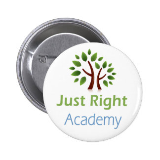 Just Right Academy logo products 2 Inch Round Button