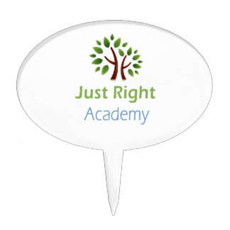 Just Right Academy logo products Cake Topper