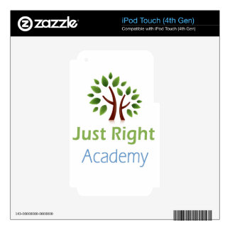 Just Right Academy logo products iPod Touch 4G Decal