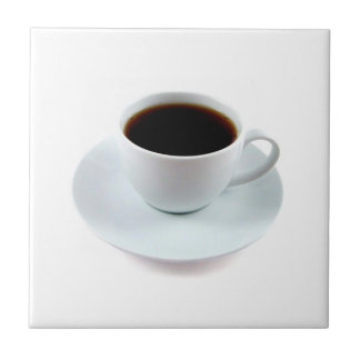 JUST RIGHT CERAMIC TILE-BEAUTIFUL COFFEE CUP SMALL SQUARE TILE