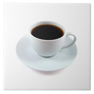 JUST RIGHT CERAMIC TILE-BEAUTIFUL COFFEE CUP LARGE SQUARE TILE