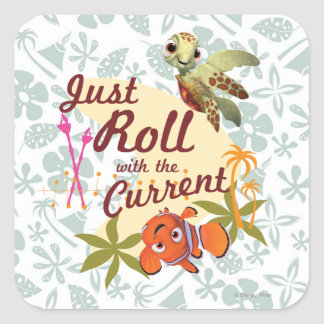 Just Roll with the Current Square Sticker