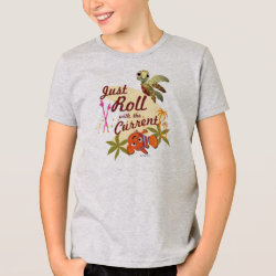 Kids' American Apparel Fine Jersey T-Shirt with Pixar's Finding Nemo with Squirt: Just Roll with the Current design
