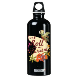 SIGG Traveller Water Bottle (0.6L) with Pixar's Finding Nemo with Squirt: Just Roll with the Current design