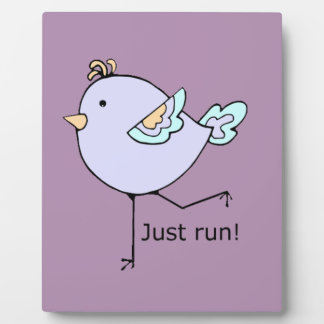 Just Run Motivational Quote for Running Fans Plaque