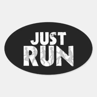 Just Run Oval Sticker