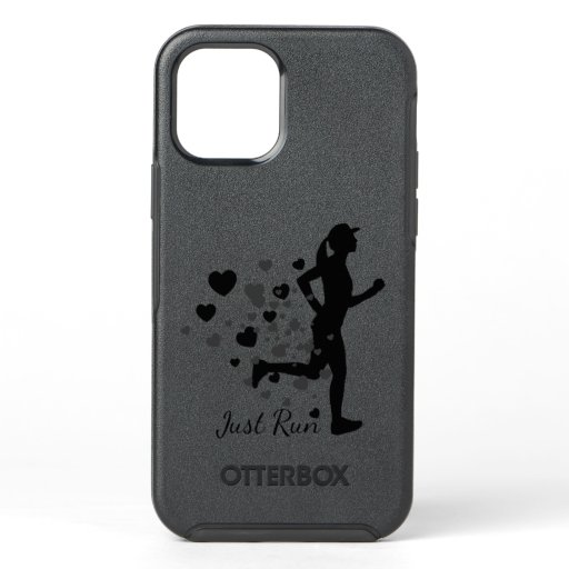 Just Run Runner's Quote Cute Running Motivation OtterBox Symmetry iPhone 12 Case