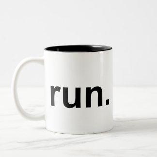 Just Run Two-Tone Coffee Mug