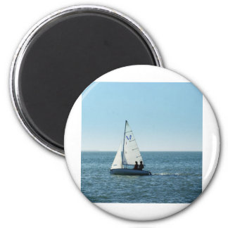 Just Sailing Along 2 Inch Round Magnet