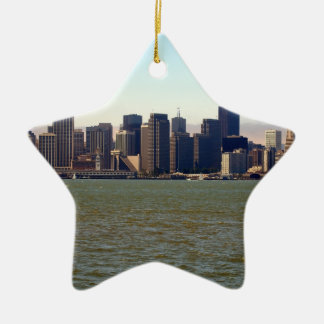 Just San Francisco Double-Sided Star Ceramic Christmas Ornament