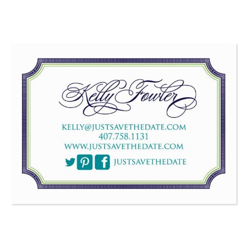 Just Save the Date Kelly Business Card Template (back side)