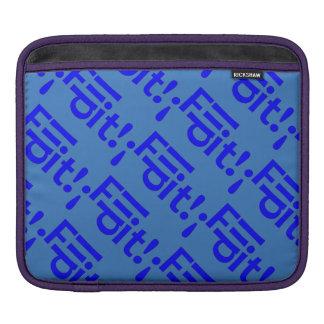 Just Say - Flip-it! - Typography - Blue iPad Sleeve