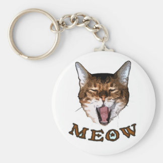 "Just Say ""Meow"" Keychain"