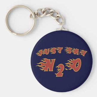 Just Say N2O Keychain