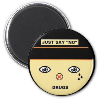 Just say no 2 inch round magnet